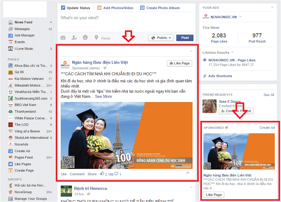 Dịch vụ quảng cáo Facebook tại Bình Dương 01
