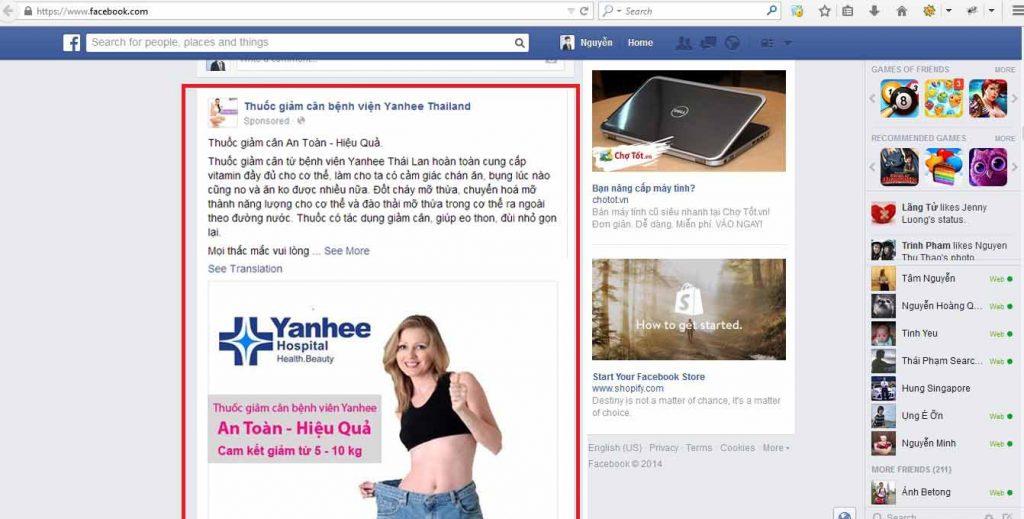Dịch vụ quảng cáo Facebook tại Bình Dương 02